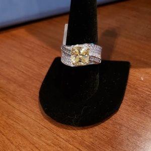 Bella Luce 6.83 CTW Canary Diamond Sim Sterling 10